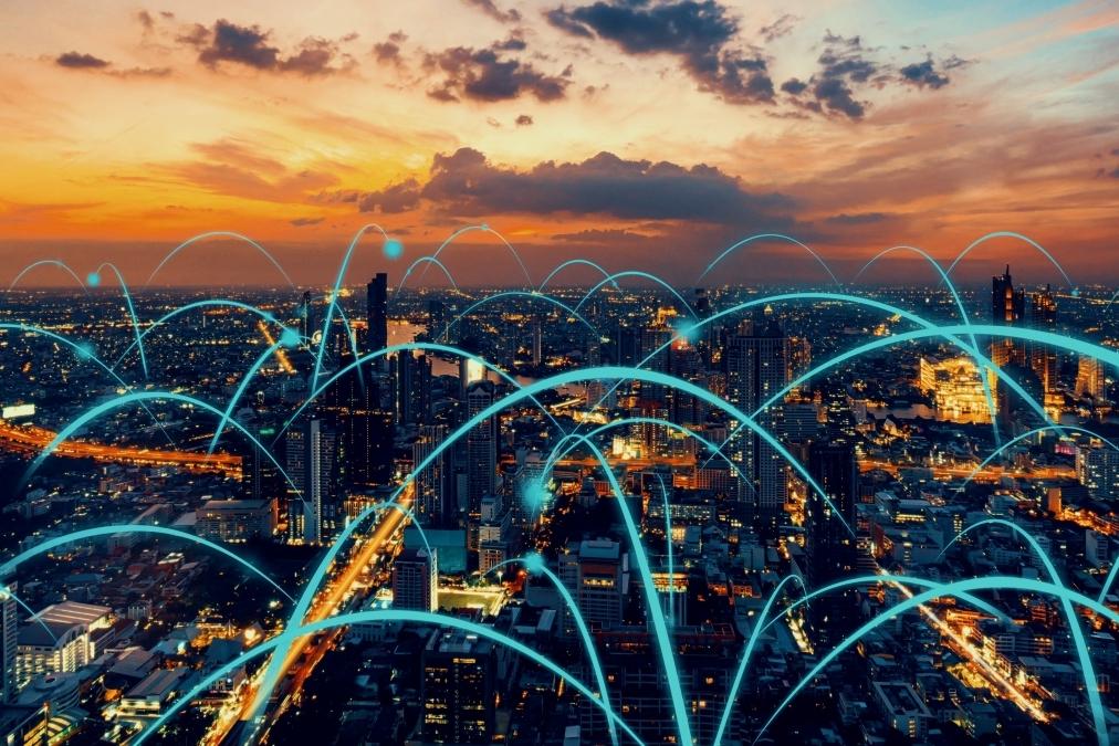 Data signals across city